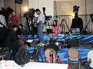 Election Night 2006, waiting for Perry victory party to start